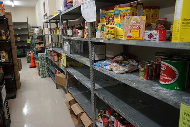 Filling the shelves at Shelter House is an urgent need