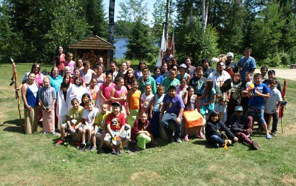 The Ninth Annual Wabun Youth Gathering was held from July 13 to 24 at the Eco Lodge in Elk Lake, Ontario. Pictured are the Wabun Youth Junior participants who took part in the first week of events.