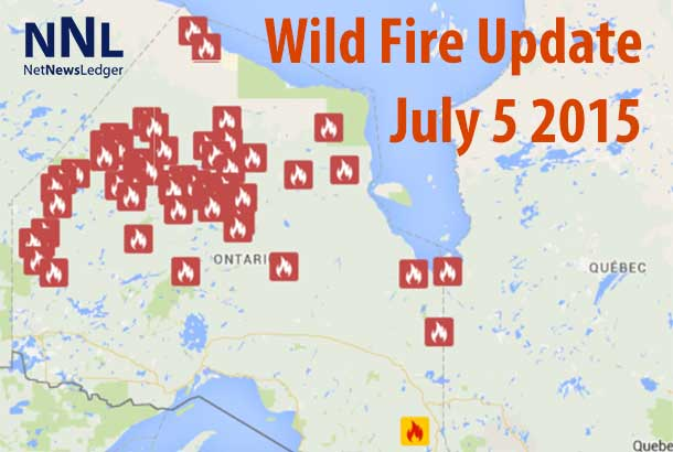 Northwestern Ontario is burning. There are 318 fires in Ontario so far this wild fire season. 32,315 hectares have burnt.
