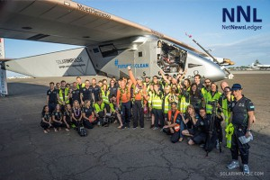 Team Solar Impulse 2 celebrates landing in Hawaii