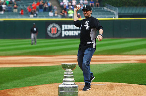 Patrick Sharpe along with the Stanley Cup will be on hand on Sunday at the Border Cats baseball game