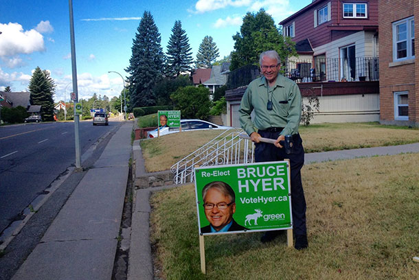 Thunder Bay Superior North MP Bruce Hyer hitting the campaign trail