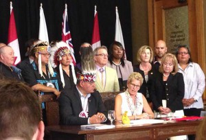 Chiefs of Ontario and the Province of Ontario under the leadership of Premier Wynne have signed a historic Political Accord