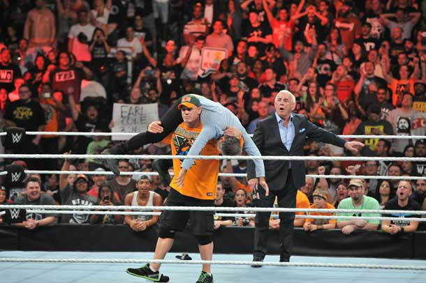 John Stewart gets his Attitude Adjustment from John Cena Image WWE®