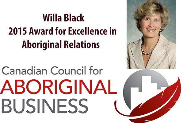 Willa Black is the winner of the 2015 Award for Excellence in Aboriginal Relations