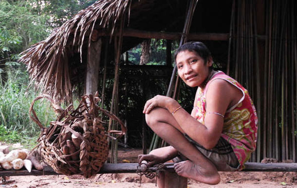 Irahoa Awá and his family were forced out of their forest home after being surrounded by loggers. © Survival International 2015