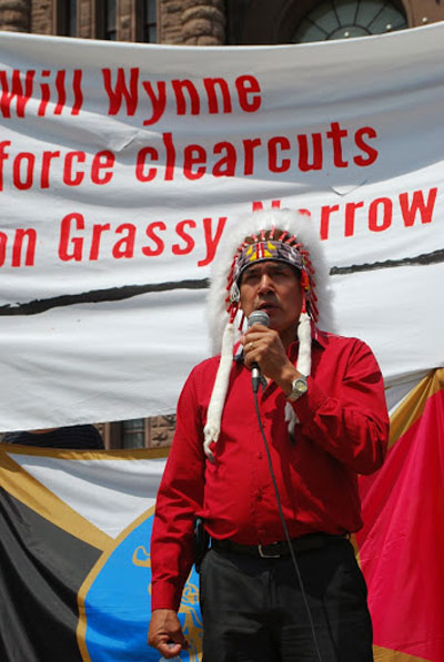 Grassy Narrows Chief Fobister