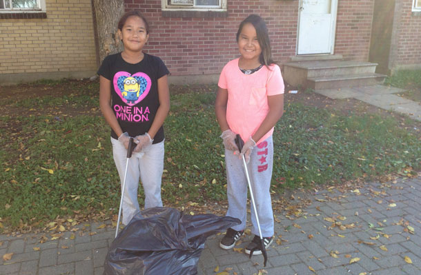 Limbrick youth engaged in grassroots neighbourhood improvements with today's fall clean up
