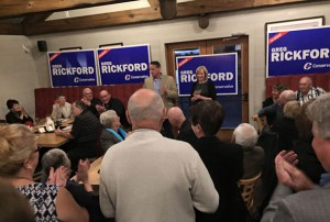 Kenora MP Greg Rickford with Prime Minister Harper's wife at Kenora campaign event