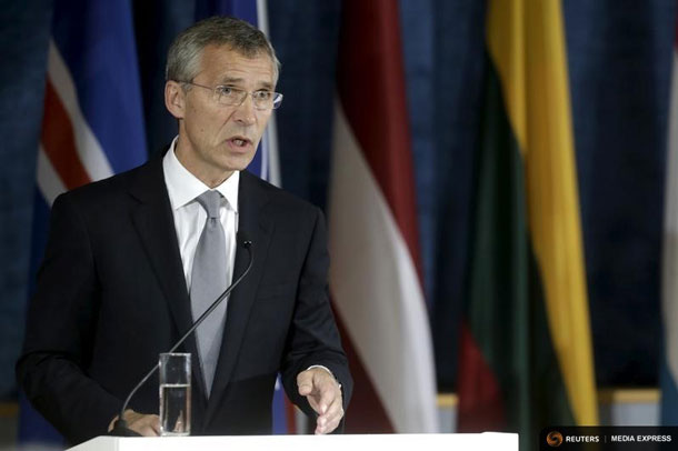 NATO Secretary General Jens Stoltenberg speaks during a news conference after the NATO Force Integration Unit inauguration in Vilnius, Lithuania, September 3, 2015. REUTERS/Ints Kalnins