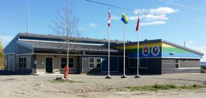 Eabametoong First Nation celebrated the opening of its new police detachment today with an official ribbon cutting ceremony and a feast.