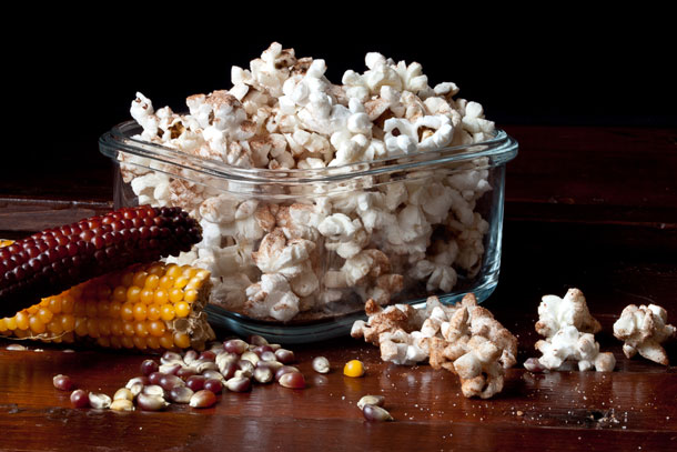 Enjoy Cinnamon-Cocoa Popcorn (with or without the kick) while it's still warm. Cooled popcorn can be stored in an airtight container for several days, but it will lose a bit of its crunch. Credit: Copyright 2015 Susan Lutz
