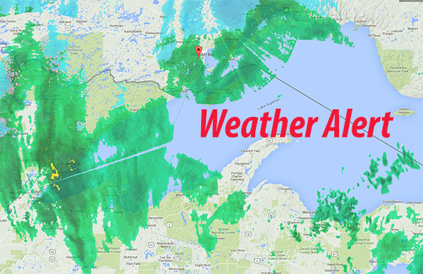 Between 5-8 cm of snow are in the forecast for Thunder Bay