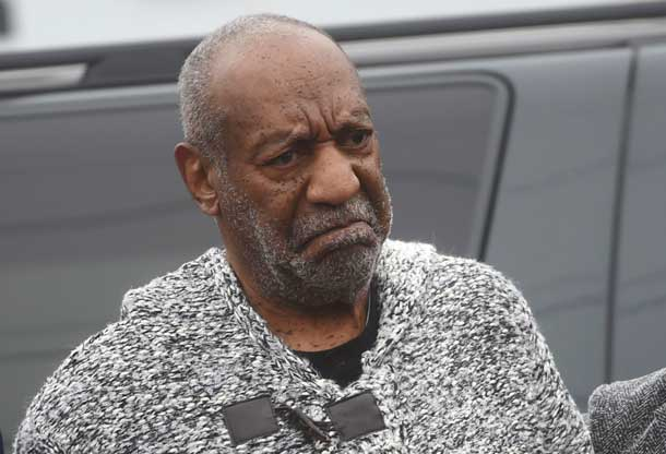 Actor and comedian Bill Cosby arrives for his arraignment on sexual assault charges at the Montgomery County Courthouse in Elkins Park, Pennsylvania December 30, 2015. REUTERS/Mark Makela