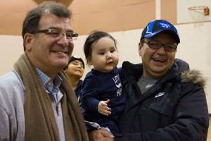 Kenora MP Bob Nault at a Community Event in Sandy Lake