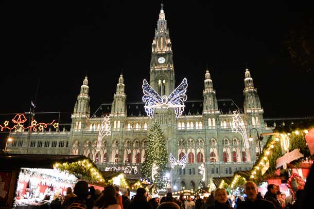 The holiday market in Vienna, Austria. Credit: Copyright 2015 Kathy Hunt
