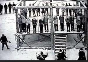 Dakota 38 Hanging Site at Mankato as thirty-eight Dakota were hung