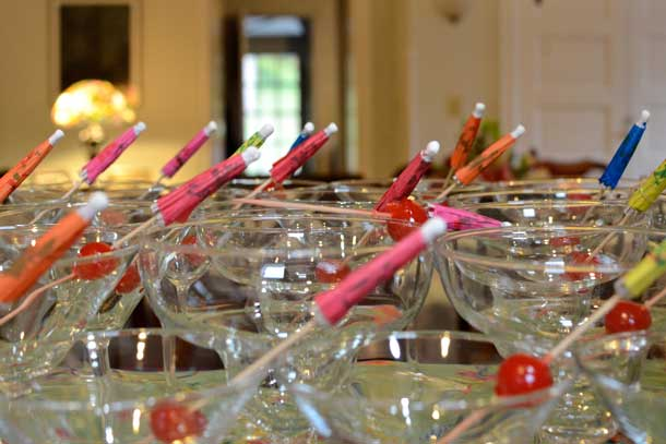 Plenty of glassware is key for a successful party. Credit: Copyright 2015 Kathy Hunt