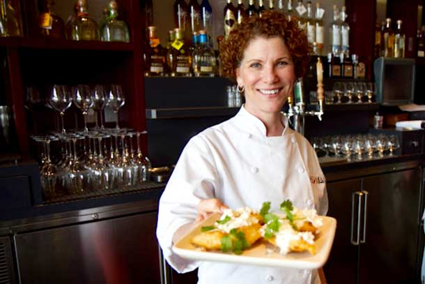 Joanne Weir serves up fresh, seasonal food at Copita Tequileria y Comida in Sausalito, California. Credit: Copyright 2015 Chuck Miller