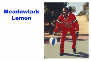 Meadowlark Lemon in Harlem Globetrotters uniform