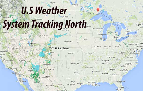 Weather system tracking north from Texas expected to impact Northern Ontario