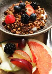 Muesli and fresh fruit. Credit: Copyright 2015 Kathy Hunt