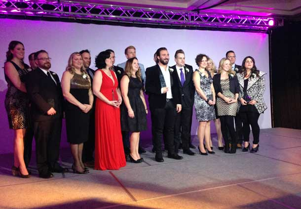 The Northern Ontario Visionary Awards were presented at a Gala in Thunder Bay last night.