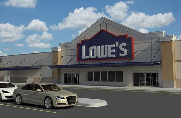 The new Sault Ste. Marie Lowe's with approximately 75,000 sq. ft. of retail sales space, with an adjacent garden centre and is expected to create 120 to 140 jobs. Please note: This is a conceptual rendering and the image is subject to change.