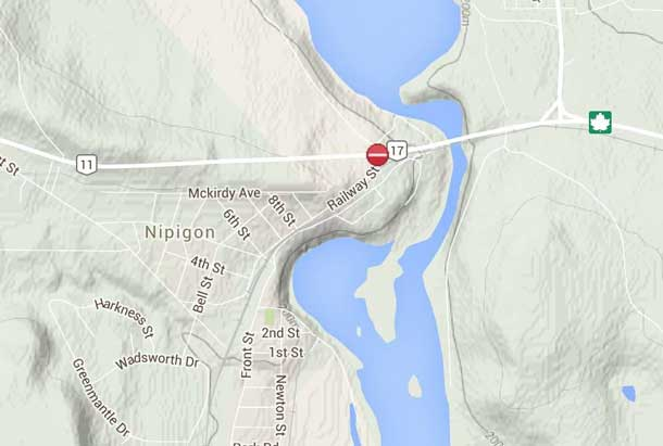 Traffic impact will be huge depending on how long the Nipigon Bridge is going to be closed