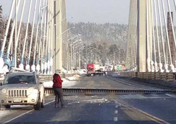 The Nipigon Bridge has heaved and is now closed pending inspection from engineers