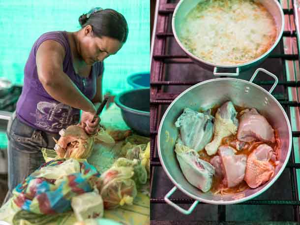 "Preparing ""Sweaty Chicken"" recipe in Ecuador. Credit: Copyright 2016 Chris Terry"