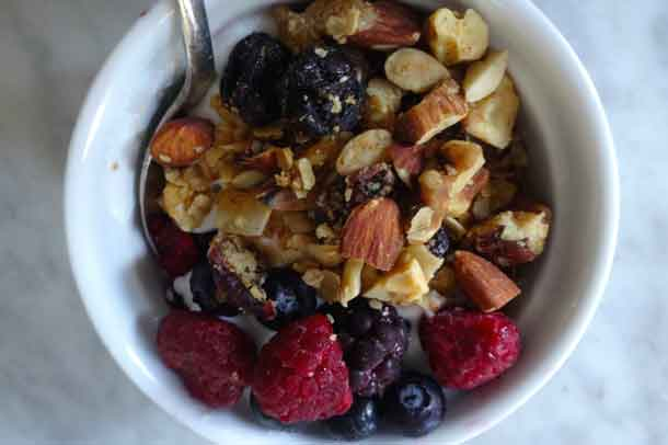 Incorporate ginger into granola with berries for a healthy snack. Credit: Copyright 2016 Rose Winer