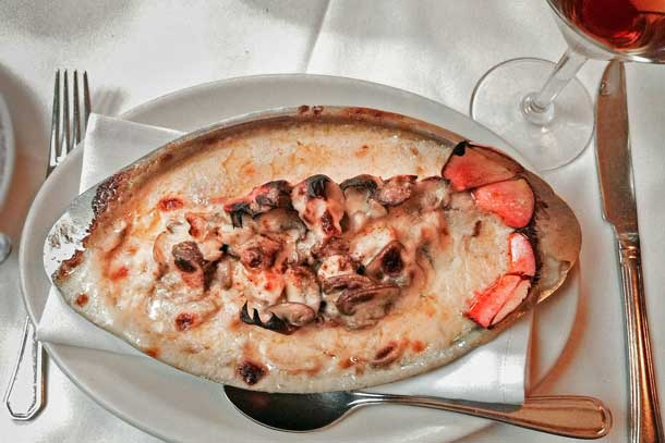 Musso & Frank's lobster thermidor: A classic done right. Credit: Copyright 2016 Elizabeth Weinstein