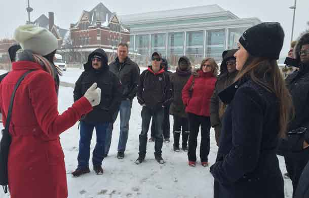 Participants were treated to a tour of Thunder Bay