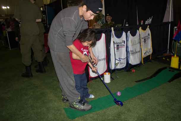 AT the PGA TOUR Canada Staal Foundation Open Booth the kids tried their hand at a little golf.