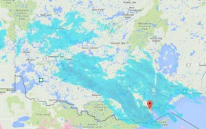 An Alberta Clipper is tracking across the southern part of Northwestern Ontario