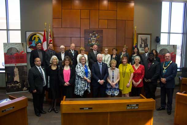 Caring Canadian Award Recipients at Thunder Bay City Hall