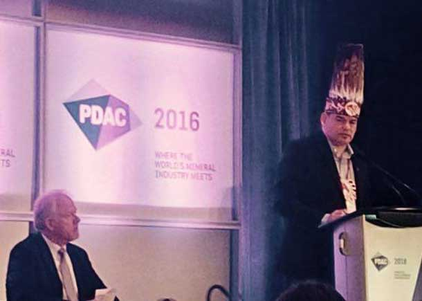 Ontario Regional Chief Day speaking at PDAC