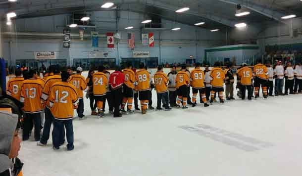 Teams from Fort Hope First Nation have pulled out from a hockey tournament in respect for the tragic death of a community member.