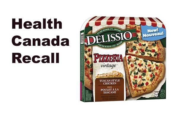 Health Canada Recall Delissio Frozen Pizza