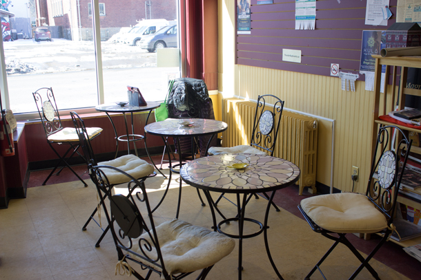 The Sun Room at Steeper's Tea on May Street in the downtown Fort William Neighbourhood