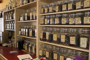 Steeper's Wall of Tea
