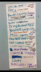 Some of the requests from youth in Attawapiskat