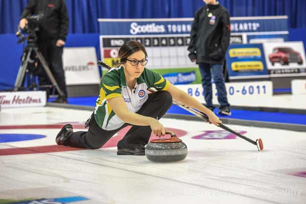 Ashley Sippala, second for Team McCarville, represented Northern Ontario at the 2016 Scotties Tournament of Hearts, placing second overall. When Sippala isn't training for elite curling bonspiels or competing, she works as a lab technician at Thunder Bay Regional Health Sciences Centre. Photo by William Vavrek Photography
