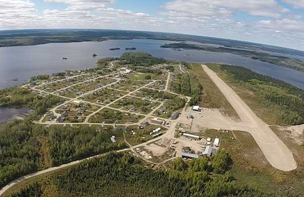 From the air - Ebametoong First Nation