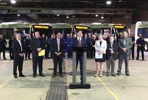 Prime Minister Trudeau at Thunder Bay Transit Barn on Fort William Road
