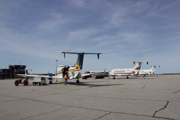 Wasaya aircraft at the Sioux Lookout Airport on April 25 2016