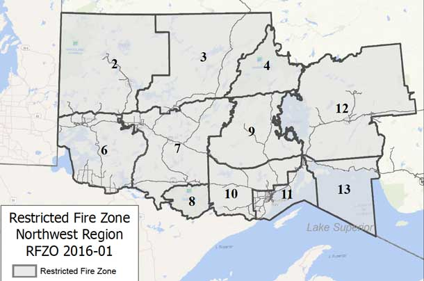 Restricted Fire Zone Declared May 7 2016