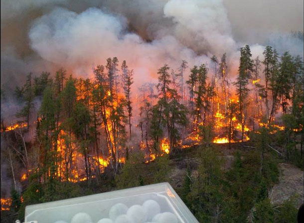 Ontario Ministry of Natural Resources and Forestry personnel with the Aviation, Forest Fire and Emergency Services Program commenced aerial ignition on Kenora District Fire Number 18 as one more method of attack on this aggressive fire.