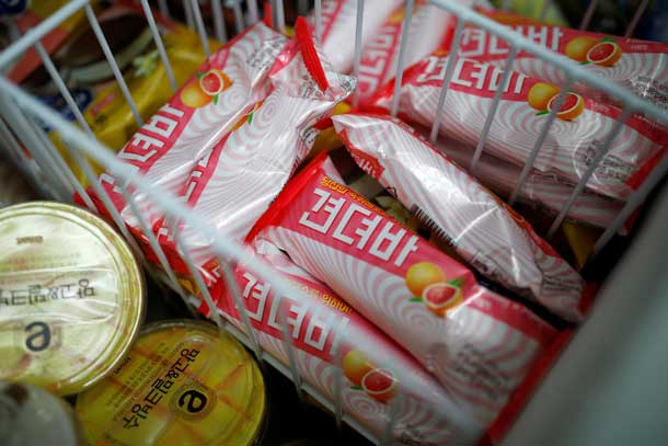 Ice cream bars named Gyeondyo-bar, which translates to